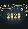 golden celebration background for happy new year vector image vector image