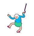 grandmother dance grandma dances old lady cool vector image vector image