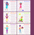 happy birthday poster with text partying people vector image