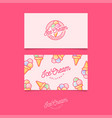 identity ice cream pink vector image vector image