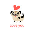 in love with a dog vector image