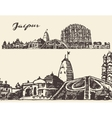 Jaipur city vintage hand drawn sketch vector image vector image