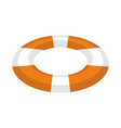 lifebuoy isolated inflatable round to rescue vector image