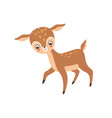 lovely badeer adorable forest fawn animal vector image vector image