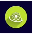 Molecular compound icon chemistry molecular vector image