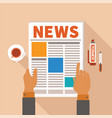 morning newspaper concept vector image