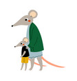 mother mouse and her kid loving parent animal and vector image vector image