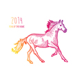 Multicolor Chinese New Year of horse 2014 isolated vector image