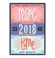 new years magic time vector image vector image