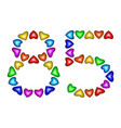 number 85 eighty five of colorful hearts on white vector image