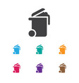 of cleanup symbol on bin icon vector image