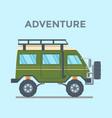 off-road vehicle van with mud tire vector image