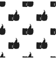 Patriotic thumb up icon in black style isolated on vector image vector image