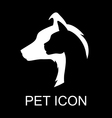 pet icon black vector image