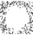 Random pine tree forest pattern background vector image