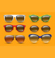 realistic sunglasses fashion designer glasses vector image