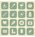 Retro Medical Icons vector image vector image