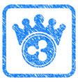 ripple crown framed stamp vector image vector image