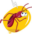 running cockroach insect cartoon vector image