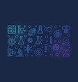 science and chemistry blue outline vector image vector image