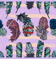 seamless feather pattern vector image vector image