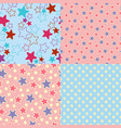 set of four seamless abstract textures with stars vector image