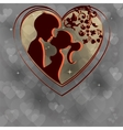 Smoky design with silhouettes of two lovers vector image vector image
