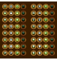 steam punk game icons buttons icons interface ui vector image
