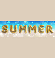 summer typographic design summertime poster vector image
