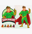 superhero mascot design for business vector image