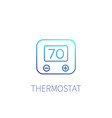 thermostat linear icon on white vector image vector image