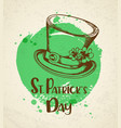 vintage greeting card for st patricks day vector image