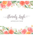 watercolor florals hand painted with text frame