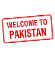 welcome to Pakistan red grunge square stamp vector image vector image