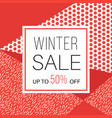 winter sale banner for online shopping vector image vector image