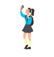young woman take selfie vector image vector image