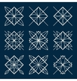Lineart ornamental geometric symbols vector image