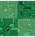 Set of textures computer board Green vector image