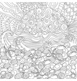 seascape for coloring book vector image