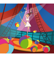 The gymnast and circus vector image