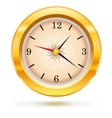 metallic wall clock vector image