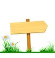 wooden board index vector image