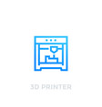 3d printer icon on white vector image vector image