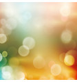 Abstract bokeh blurry light dot background vector image vector image