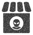 Alien Shop Grainy Texture Icon vector image vector image