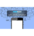 App Development Infpgraphic Concept Background vector image vector image