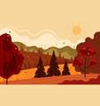autumn nature landscape graphic design hand drawn vector image
