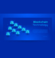 blockchain isometric concept banner vector image vector image