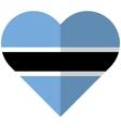Botswana flat heart flag vector image