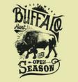 buffalo hunt vector image vector image